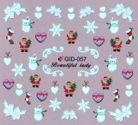 Fosforové vodolepky na nechty - GID057