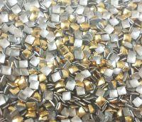 Kovová ozdoba na nechty - Gold square 2mm