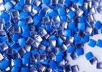 Kovová ozdoba na nechty - Neon blue square 3mm