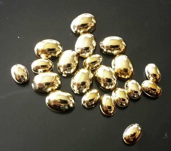 Pol Ovály MIX - Gold - tekuté kamene