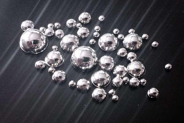Pol Perličky MIX - Silver - tekuté kamene
