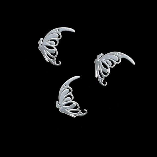Príklepky - Butterfly Silver