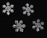 Príklepky - Snehové vločky strieborné 3