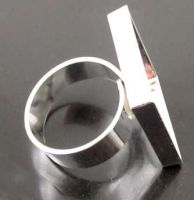 Prsteň postriebrený lôžko - 22x22mm
