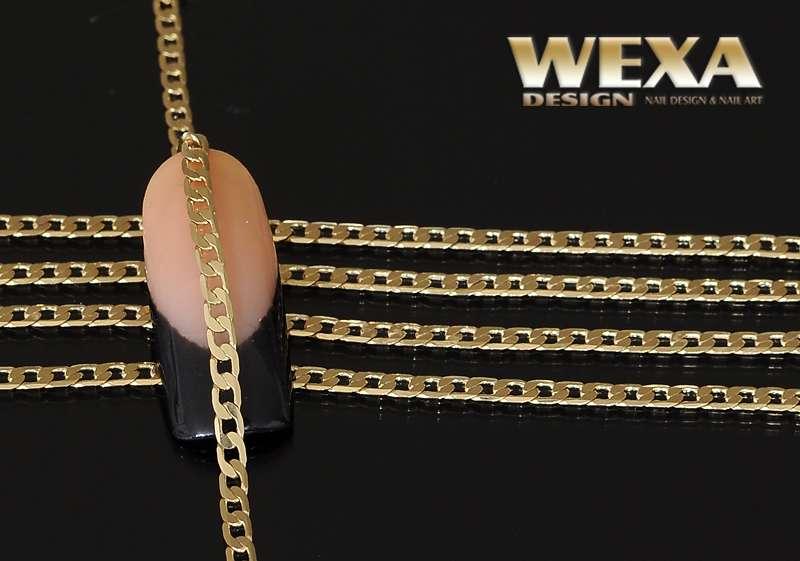 Retiazka na zdobenie nechtov Gold Lux