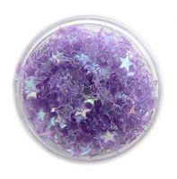 Konfety hviezdičky plné - 10.fialové aqua