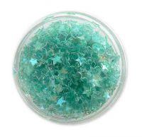 Konfety hviezdičky plné - 12.zelenkavé aqua