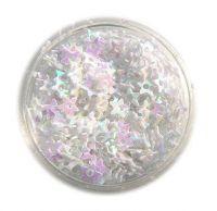 Konfety hviezdičky s dierkou - 1.biele
