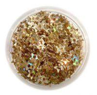 Konfety hviezdičky s dierkou - 8.zlaté