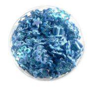 Konfety kvetinky duté č.9 modrá