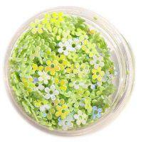 Konfety kvetinky s dierkou - 8.zelenkavé