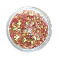 Konfety flitre malé - 31. červené aqua hologram