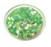Konfety flitre malé - 36. zelené aqua hologram