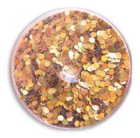 Konfety flitre malé - 27. zlaté metal hologram