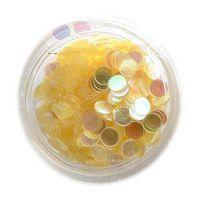 Konfety flitre -  žlté aqua -2