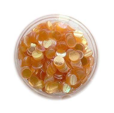 Konfety flitre - oranžové aqua -3