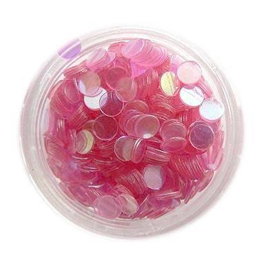 Konfety flitre - ružové aqua - 4