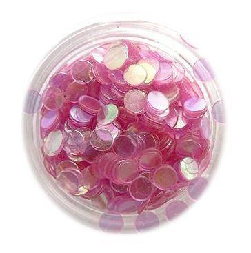 Konfety flitre - tmavé ružové aqua - 5