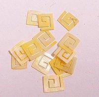 Mušle ornamenty kocky - žlté 1