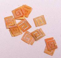 Mušle ornamenty kocky - oranžové 2