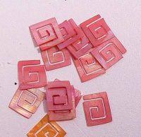 Mušle ornamenty kocky - červené 3
