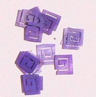 Mušle ornamenty kocky - fialové 5