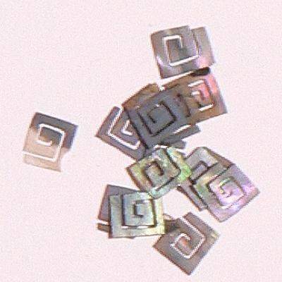 Mušle ornamenty kocky - šedé 8