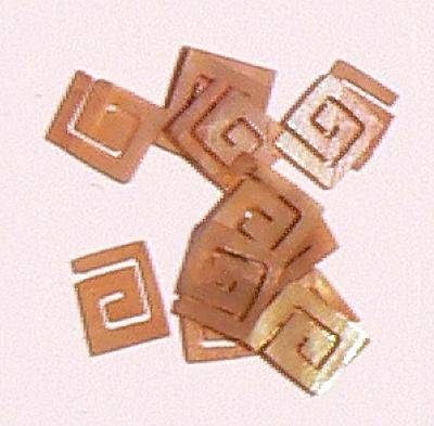 Mušle ornamenty kocky - hnedé 9