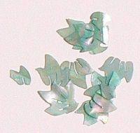 Mušle ornamenty lístočky - zelenomodré 16