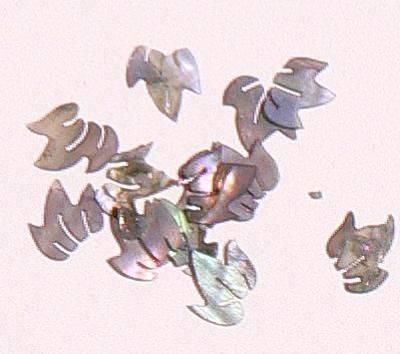 Mušle ornamenty lístočky - šedé 17