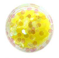 Konfety hexagony - žlté aqua
