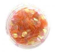 Konfety hexagony - oranžové aqua