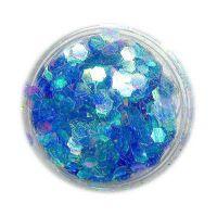 Konfety hexagony - modré aqua