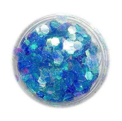 Konfety na zdobenie nechtov, hologramy, hexagony, nail art