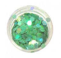 Konfety hexagony - zelené poloaqua
