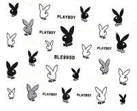 Glitter nálepky na nechty BLE995D Playboy