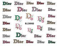 Glitter nálepky na nechty BLE996D Dior