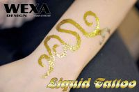 metalické tetovanie za použitia lepidla body glue