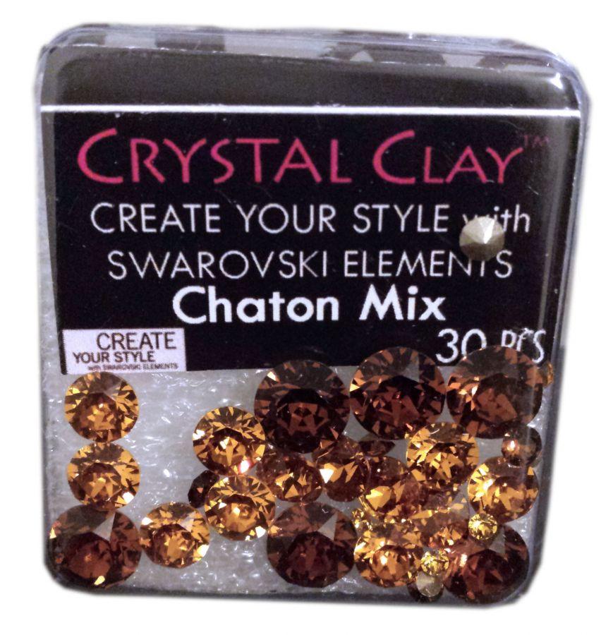 Swarovski Chaton Mix Brown