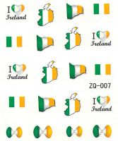 Vodolepky na nechty ZQ007 - Írsko