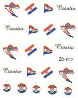 Vodolepky na nechty ZQ012 - Chorvátsko