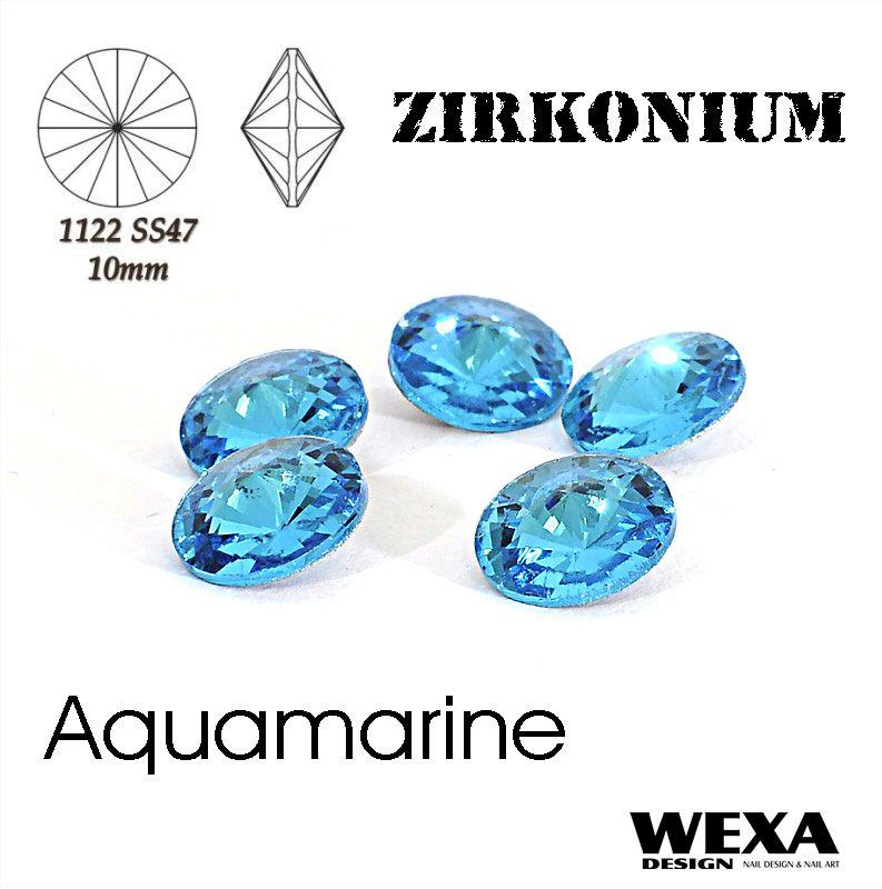 ZIRKONIUM Rivoli 10mm - Aquamarine