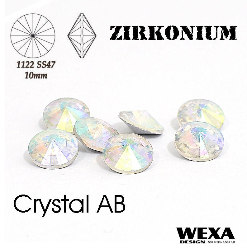 ZIRKONIUM Rivoli 10mm - Crystal AB