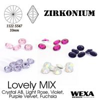 ZIRKONIUM Rivoli 10mm - Lovely MIX