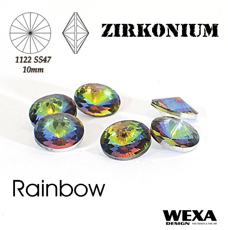 ZIRKONIUM Rivoli 10mm - Rainbow