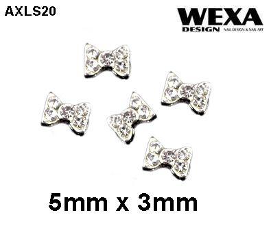 Crystal 3D Deco - AXLS20 - kovové mašličky na nechty 3D