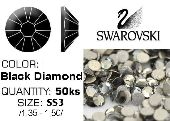 Swarovski F - Black Diamond SS3