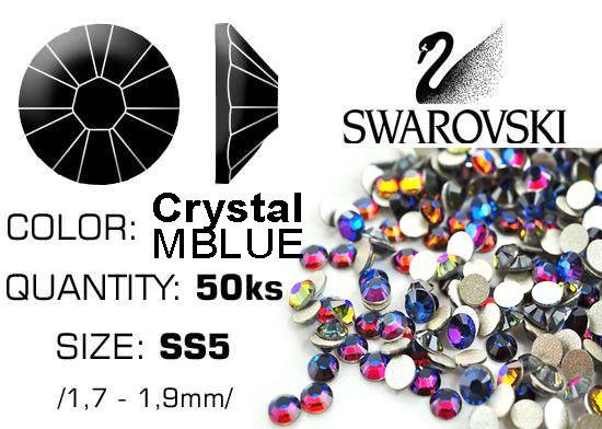 Swarovski F - Crystal Meridian Blue (MBLUE) SS5