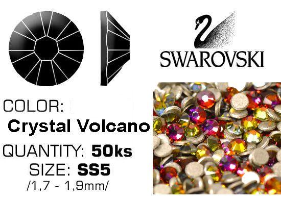 Swarovski F - Crystal Volcano (VOL) SS5