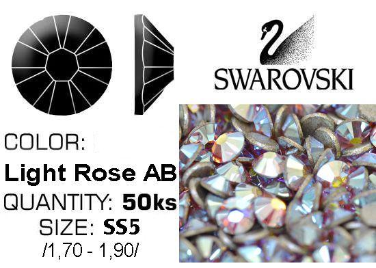 Swarovski F - Light Rose AB SS5